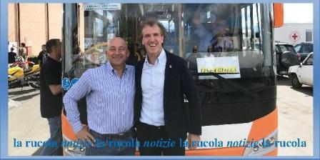 Il sindaco di Camerino Sandro Sborgia e Stefano Belardinelli, presidente della Contram
