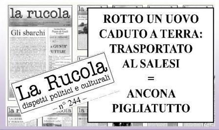 Locandina LA RUCOLA n° 244