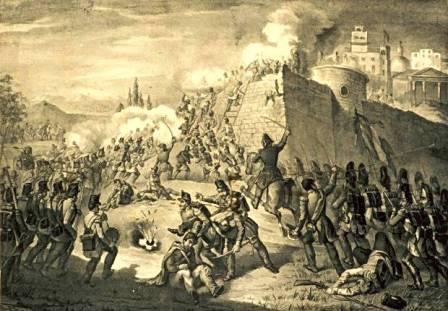 Melchiorre Fontana assalto dei francesi a Roma nel 1849-ca.1860
