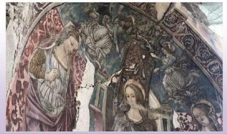 affresco accumuli s.maria della misericordia