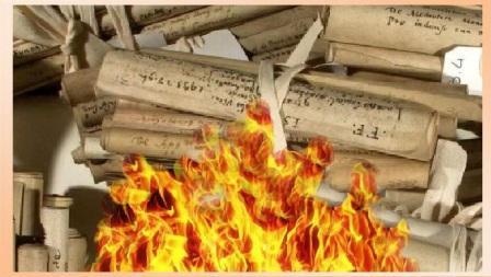 archivi in fiamme