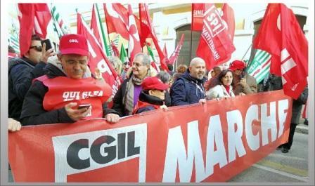 cgil marche manifestazione roma