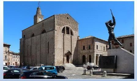 corridonia chiesa s.francesco scuola e monumento a corridoni