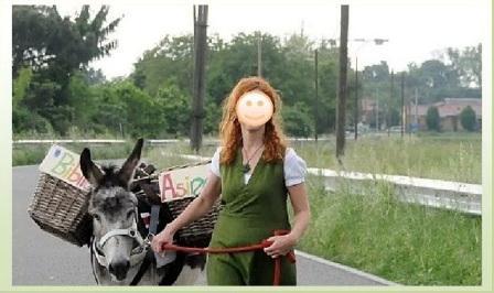 donna con asino