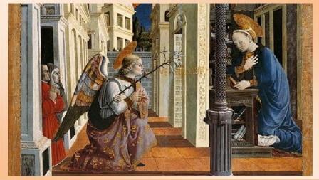 giovanni angelo d'antonio annunciazione e cristo in pietà particolare