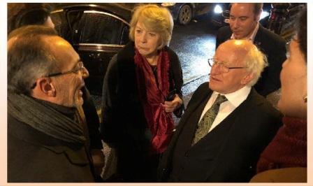 maurizio Boldrini e il Presidente della Repubblica Irlandese Micheal Higgins