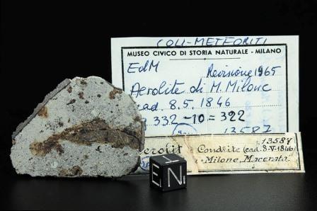 La meteorite che cadde nel 1846 a monte milone for Meteorite milano