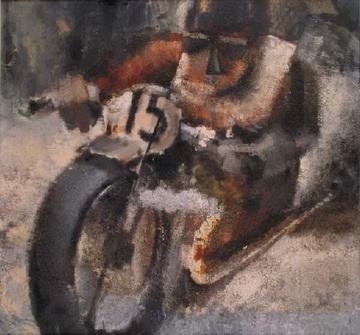 motociclista futurista