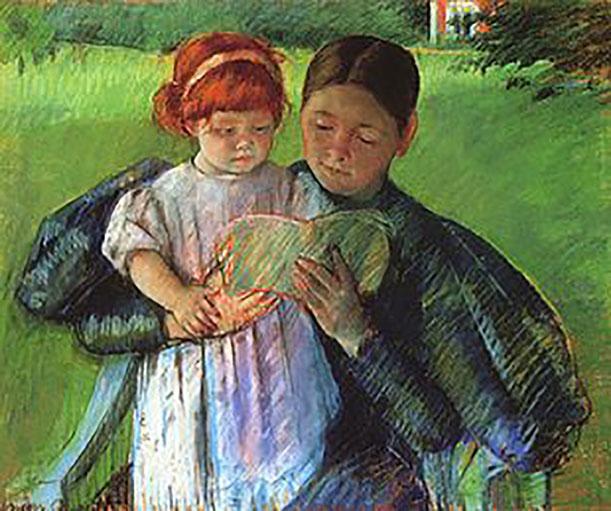 nati-per-leggere---Cassatt_Mary_Nurse_Reading_to_a_Little_Girl_1895