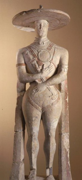 p 10 statua capestrano anteriore
