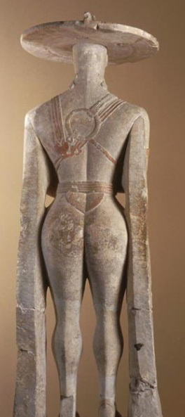 p 10 statua capestrano posteriore
