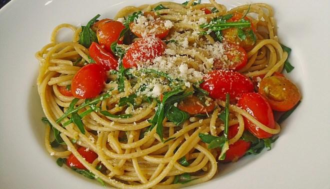 p 22 spaghetti--rucola