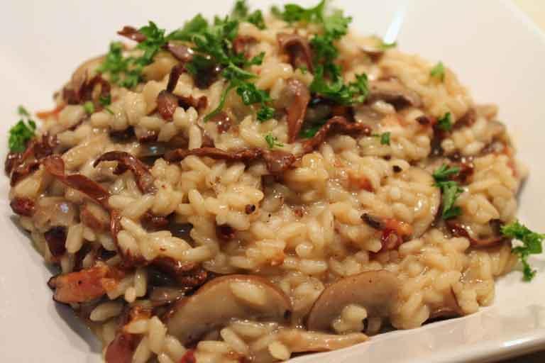 risotto con i funghi