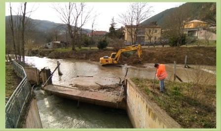 s.severino lavori sul fiume