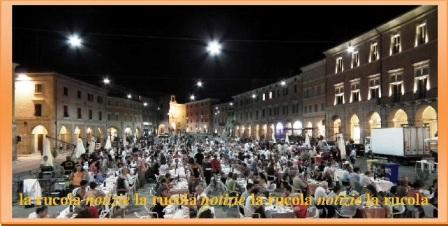 san severino cena in piazza